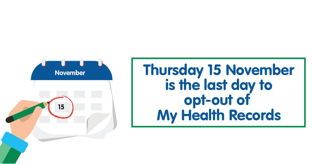 Thursday 15 November is the last day to opt-out of My Health Records