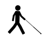 Person using a cane