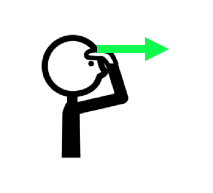 Icon of person with arrow from their mind pointing outward