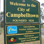 Welcome to Campbelltown sign
