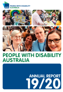Cover of PWDA Annual Report 2019 2020